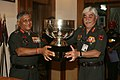 The Chief of Army Staff, General V.K .Singh presenting the Sports Trophy of the year to GOC-in-C Southern Comd., in New Delhi on May 19, 2010.jpg