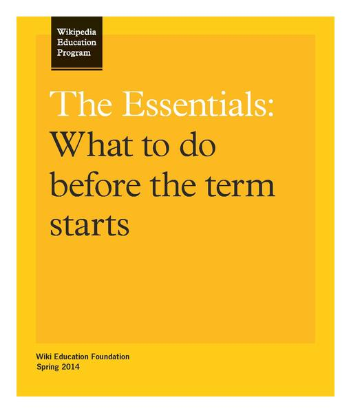 File:The Essentials - Wikipedia Education Program US Canada.pdf
