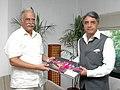 The Governor of Manipur, Shri V.K. Duggal meeting the Union Minister for Civil Aviation, Shri Ashok Gajapathi Raju Pusapati, in New Delhi on August 07, 2014.jpg