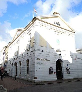 Guildhall, Barnstaple - The Guildhall and Pannier Market in Barnstaple in 2017