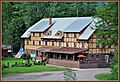 The Izaak Walton Inn is built next to a railroad helper station. The railroad is central part of the history of Essex, an early Montana railroad town that was previously named Walton. It was constructed in 1939, specifica - panoramio.jpg