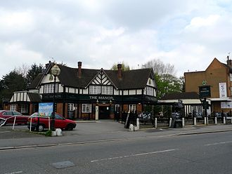 Eastcote - The Manor public house, pictured in 2009, was refurbished and renamed The Ascott in 2011.