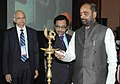 The Minister of State for Chemicals & Fertilizers, Shri Hansraj Gangaram Ahir lighting the lamp to Inaugurate the CII National Pharmaceutical Conclave, in New Delhi on December 12, 2014.jpg