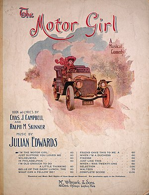 Julian Edwards - Score for Edwards' musical comedy The Motor Girl.