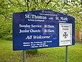 The Parish Church of St Thomas, Lower Crumpsall, Sign - geograph.org.uk - 1295857.jpg