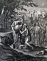 The Phillip Medhurst Picture Torah 126. Rebekah at the well. Genesis cap 24 vv 17-18. Caspar Luyken.jpg