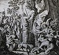 The Phillip Medhurst Picture Torah 409. Moses striking the rock. Exodus cap 17 v 6. Schellenberg.jpg