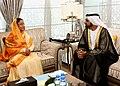 The President, Smt. Pratibha Devisingh Patil meeting the Ruler of Dubai, HH Mohammed bin Rashid Al Maktoum, at Rular's Court, in Dubai on November 24, 2010.jpg