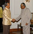 The Prime Minister of the Kingdom of Thailand, Mr. General Surayud Chulanont meeting with the President, Dr. A.P.J. Abdul Kalam, in New Delhi on June 26, 2007.jpg