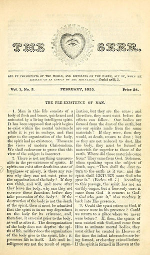 The Seer (periodical) - Second issue of The Seer February, 1853.