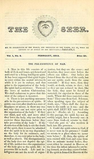 Orson Pratt - Second issue of The Seer February, 1853.