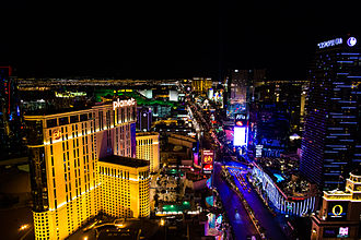Nevada - The Las Vegas Strip looking South.