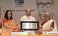 The Union Minister for Human Resource Development, Dr. M.M. Pallam Raju presenting the Saraswati Samman 2012 to the Smt. Sugathakumari, at a function, instituted by the K.K. Birla Foundation, in New Delhi on August 02, 2013 (1).jpg