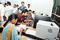 The election results are being updated at a Chandrayangutta Assembly Segment Counting Centre, in Hyderabad on May 16, 2009.jpg