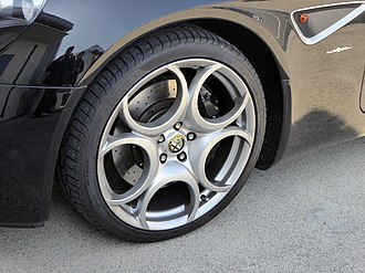Alfa Romeo 8C Competizione - The 8C featured alloy wheels with a design that mimicks horseshoes