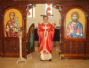 Macedonian Orthodox Cathedral of the Dormition of the Virgin Mary (Reynoldsburg, Ohio) - Dean of the Cathedral, Archpriest very rev. Dushko Gorgievski