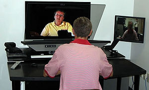 Telepresence used for teacher professional dev...