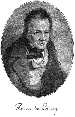 Thomas de Quincey from the frontispiece of Revolt of the Tartars,