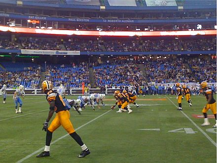Hamilton Tiger-Cats vs. Toronto Argonauts at the Rogers Centre, 11 September 2009 Tiger-Cats at Argonauts 20090911.jpg