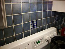 Picture of tiles above a kitchen stove