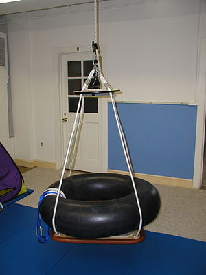 Occupational therapy - Tire Swing used during occupational therapy with children