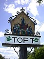Toft Village Sign (west side) - geograph.org.uk - 878633.jpg