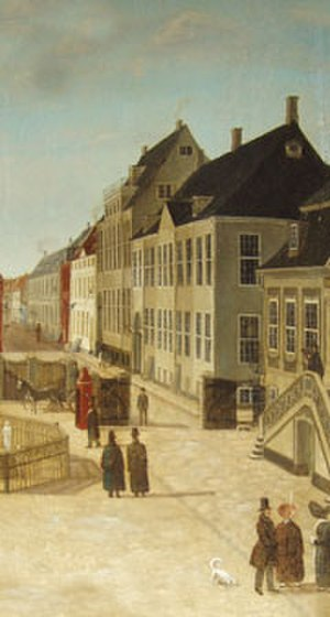Classen Mansion - The building shown on a painting from the late 18th century