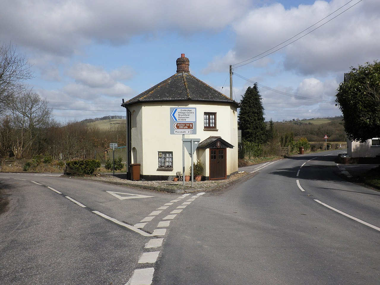 file toll house  on the a396  near exebridge
