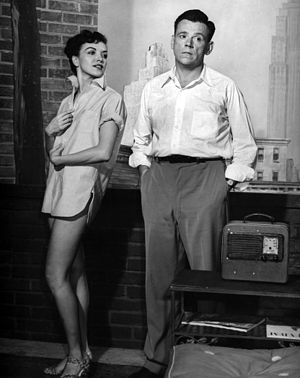 Tom Ewell - With Paulette Girard in the Broadway play, The Seven Year Itch (1952)