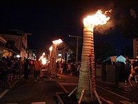 Torches burning Yoshida Fire Festival A.JPG