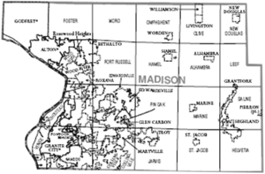 Madison County, Illinois - Map of Madison County, Illinois