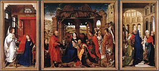 triptych by Rogier van der Weyden in the Alte Pinakothek, Munich