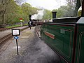 Trains passing at Tan Y Bwlch (7819271412).jpg