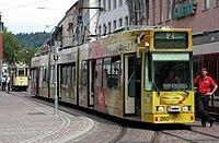 Tram 56 von 1927 der Freunde der Freiburger Straßenbahn hinter einem GT8 Z 3.jpg