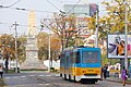 Tram in Sofia near Russian monument 033.jpg