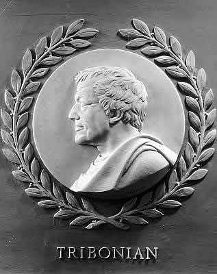 Tribonian bas-relief in the U.S. House of Representatives chamber