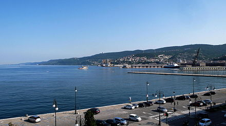 Port of Trieste, the largest cargo port in the Adriatic Triest Port1.JPG