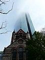 Trinity Church dwarf by The John Hancock Tower.JPG