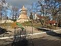 Tuřany (Kladno District), zvonice a kostel (003).JPG
