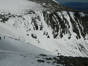 Tuckerman Ravine - View of Tuckerman Ravine from above Left Gully