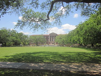 Tulane University - Newcomb Quad on Tulane's Uptown campus