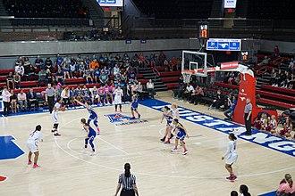 SMU Mustangs women's basketball - 2016–17 SMU team playing against Tulsa at Moody Coliseum