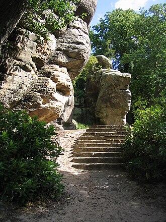 High Rocks - Image: Tunbridge Wells High Rocks steps