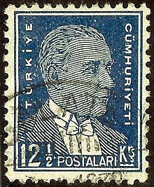 Mustafa Kemal On 1932 Stamp With More Contemporary Design