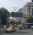 Turkish election flags at Kızılay 2015.png