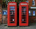 Two K6 phone kiosks in Hartley Wintney.JPG
