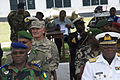 U.S. Army Maj. Gen. David Sprynczynatyk, third from left, the North Dakota adjutant general, sits with military leaders from West African nations during a nonlethal training demonstration by Ghanaian soldiers 130626-Z-ZZ999-004.jpg