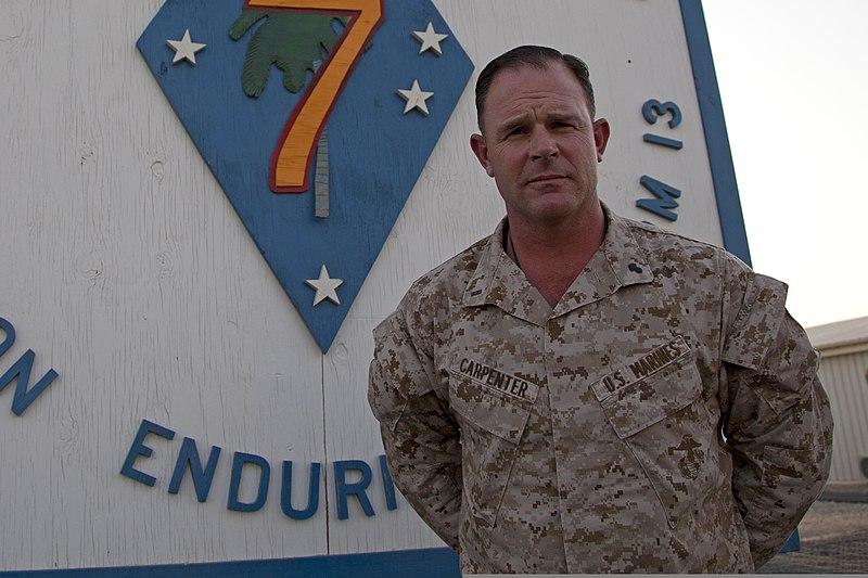 U.S. Marine Corps Chief Warrant Officer 4 Matthew Carpenter, an ...