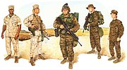 U.S. Marines Combat Utility Uniforms 2003, Full-Color Plate (2003), by John M. Carrillo