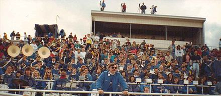 UB Pep Band with Conductor Norm Alexander at UB Homecoming Football Game, October 1991, 10 Year Anniversary UB Pep Band with Conductor Norm Alexander at UB Homecoming Football Game, October 1991.jpg